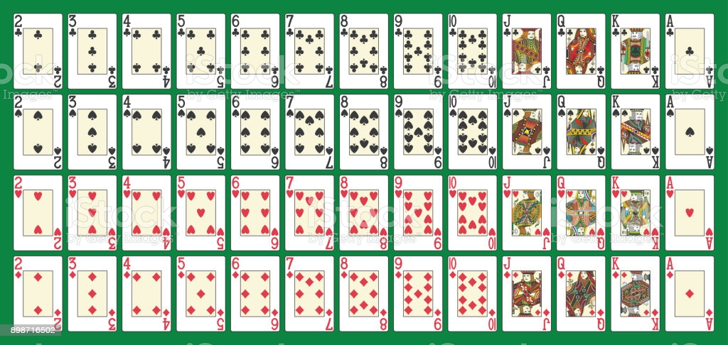 Full deck, all in one set, in th vector